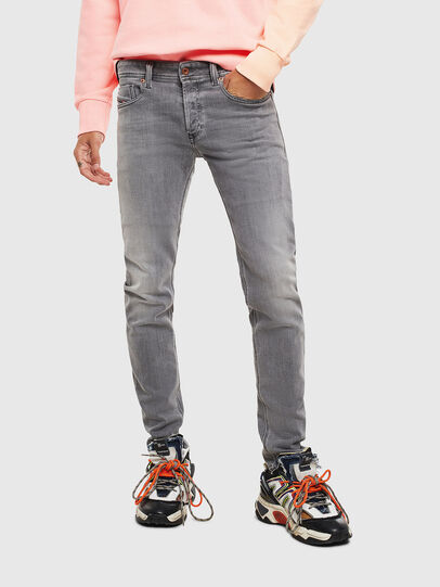 Diesel - Sleenker 0095E, Black/Dark Grey - Jeans - Image 1