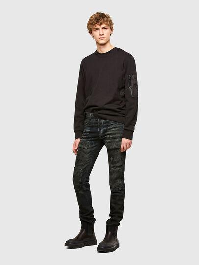 Diesel - S-IRIDIO, Black - Sweatshirts - Image 5
