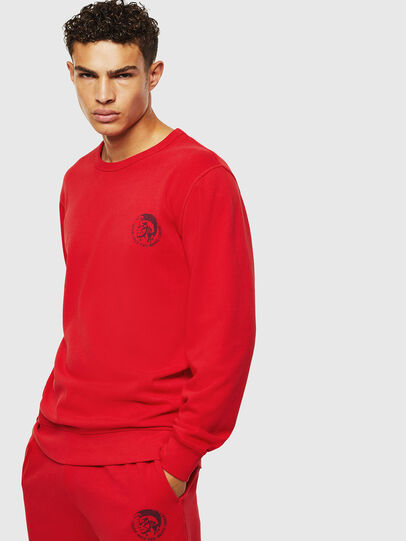 Diesel - UMLT-WILLY, Red - Sweatshirts - Image 1