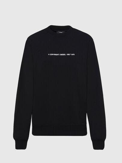 Diesel - F-ANG-COPY, Black - Sweatshirts - Image 1