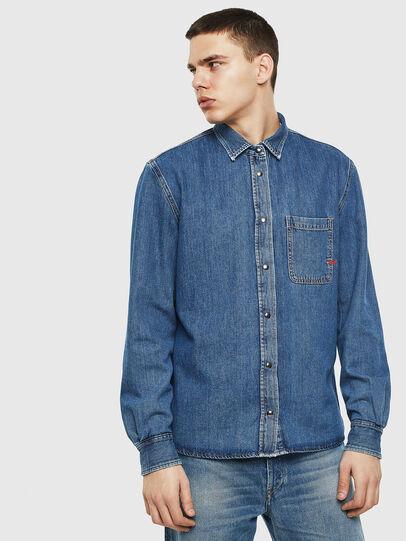 Diesel - D-WEAR-B, Blue Jeans - Denim Shirts - Image 5