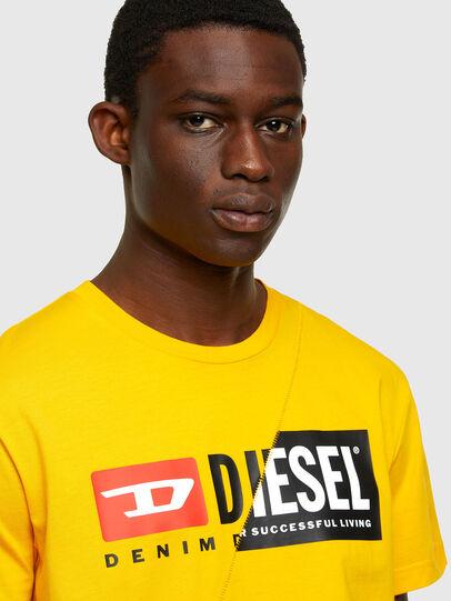Diesel - T-DIEGO-CUTY, Yellow - T-Shirts - Image 3