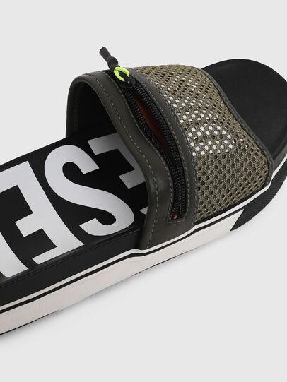 Diesel - SA-GRANDZ, Green/Black - Slippers - Image 4