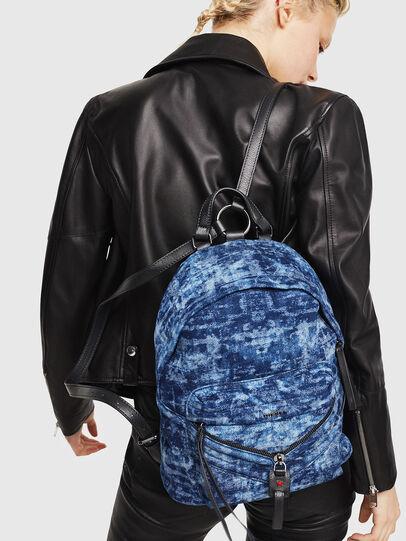 Diesel - LE-ZIPPER BACKPACK, Blue/White - Backpacks - Image 5