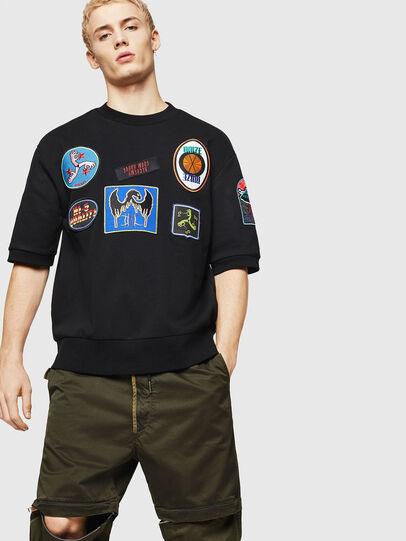Diesel - S-MAGGY-SH-PATCH, Black - Sweatshirts - Image 4