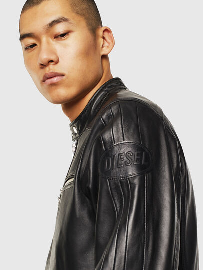 Diesel - L-BOY, Black - Leather jackets - Image 5