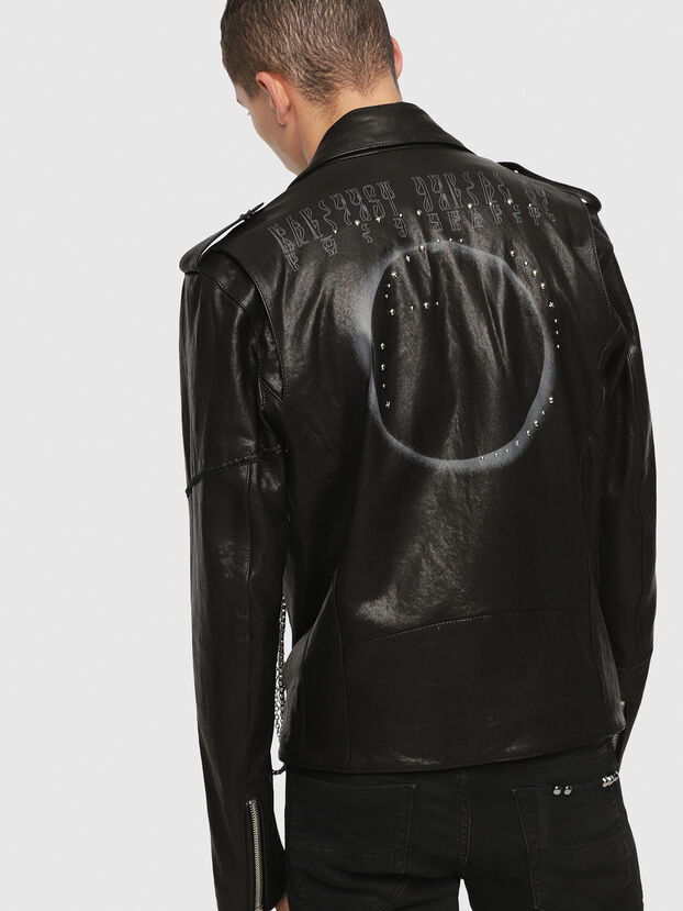 SE-LEANDRO, Black Leather - Leather jackets