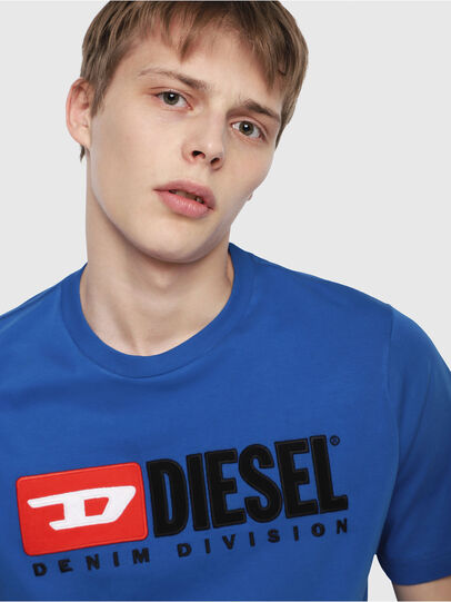 Diesel - T-JUST-DIVISION, Brilliant Blue - T-Shirts - Image 3