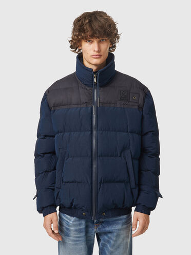Puffer jacket in brushed nylon