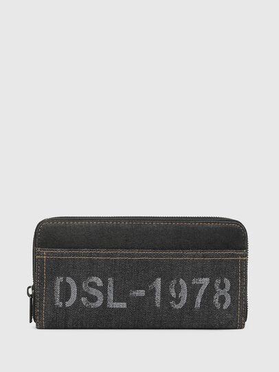 Diesel - 24 ZIP, Black Jeans - Zip-Round Wallets - Image 1