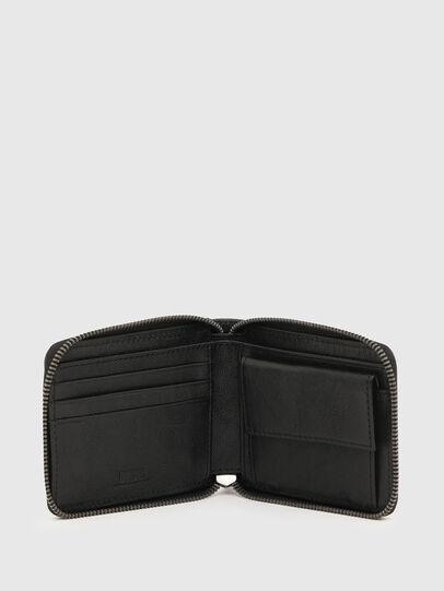 Diesel - HIRESH XS ZIPPY CHAI, Black - Zip-Round Wallets - Image 3