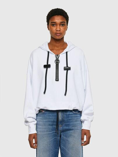 Diesel - F-CROPPY, White - Sweatshirts - Image 1