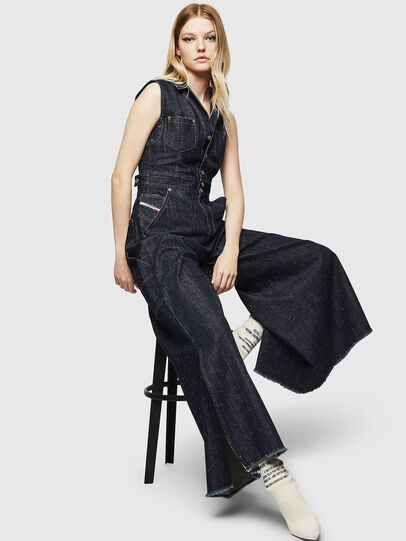 Diesel - DE-GRACE, Dark Blue - Jumpsuits - Image 4