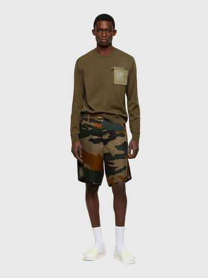 Diesel - K-NAVAJO, Military Green - Sweaters - Image 5