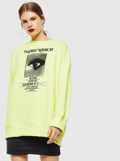 Diesel - F-AKUA, Yellow Fluo - Sweatshirts - Image 1
