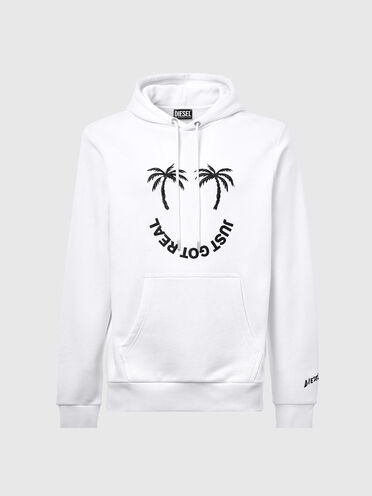 Green Label hoodie with palm print