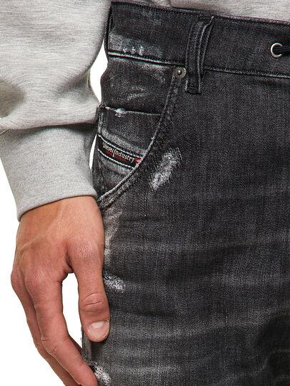 Diesel - Krooley Tapered JoggJeans® 09B53, Black/Dark Grey - Jeans - Image 3