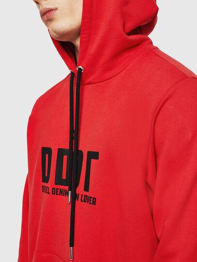 Diesel - S-GIR-HOOD-A1, Fire Red - Sweatshirts - Image 4