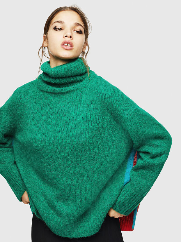 M-PERSIA, Green/Red - Sweaters