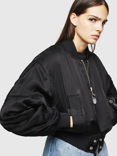 Diesel - W-BRESHA, Black - Winter Jackets - Image 8