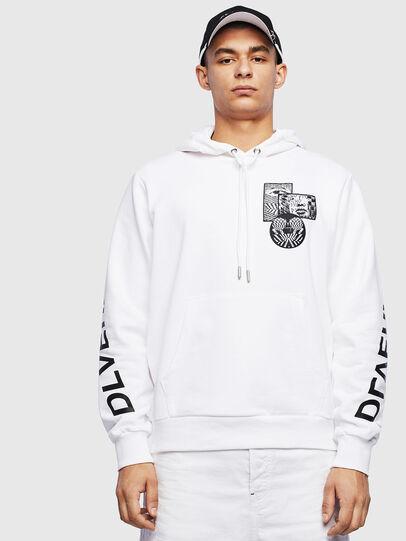 Diesel - S-GIRK-HOOD-S4, White - Sweatshirts - Image 1