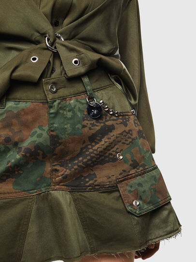 Diesel - O-AMATA, Green Camouflage - Skirts - Image 3