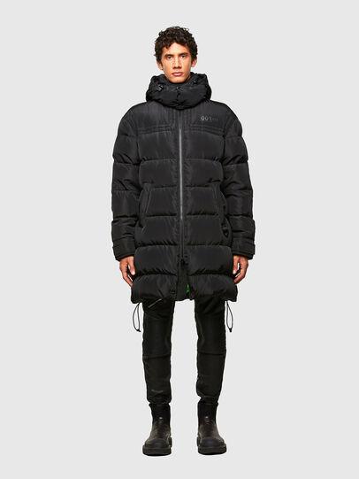 Diesel - W-RUSSELL-LONG, Black - Winter Jackets - Image 1