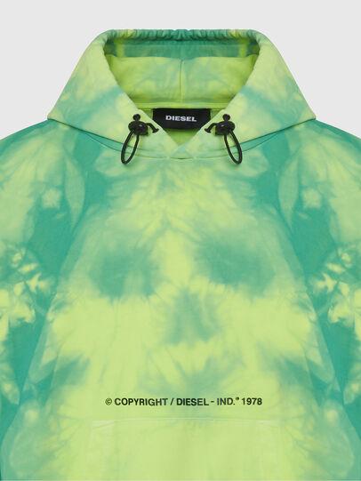 Diesel - S-ALBYEL-X4, Green/Yellow - Sweatshirts - Image 3