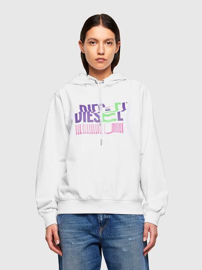 Diesel - F-ANG-HOOD-K24, White - Sweatshirts - Image 1