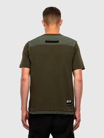 Diesel - T-ARMI, Olive Green - T-Shirts - Image 2