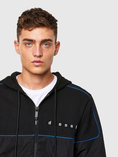 Diesel - S-LAIN-ZIP, Black - Sweatshirts - Image 3