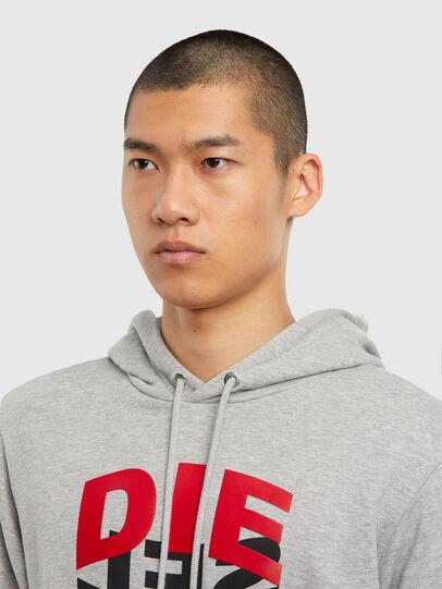 Diesel - S-GIRK-HOOD-N1, Grey - Sweatshirts - Image 5