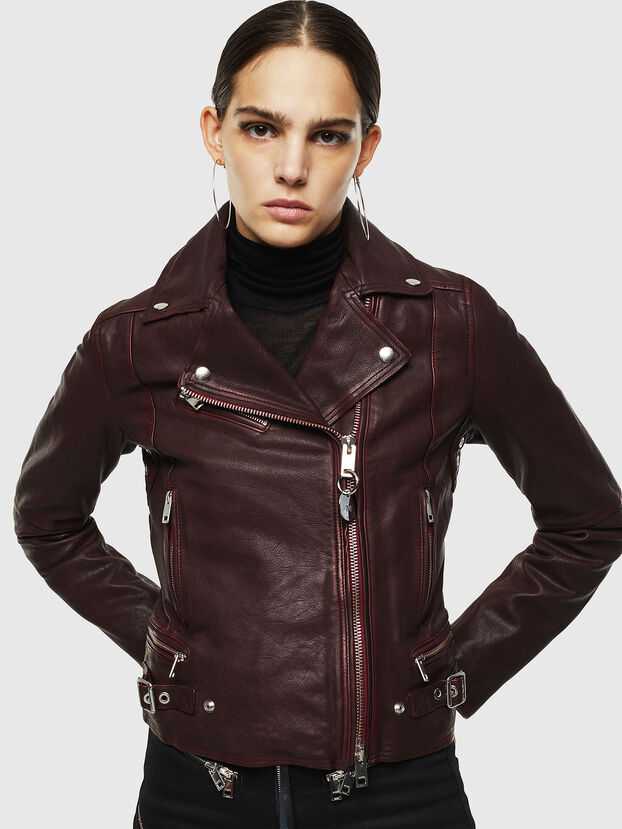 L-YLE, Burgundy - Leather jackets