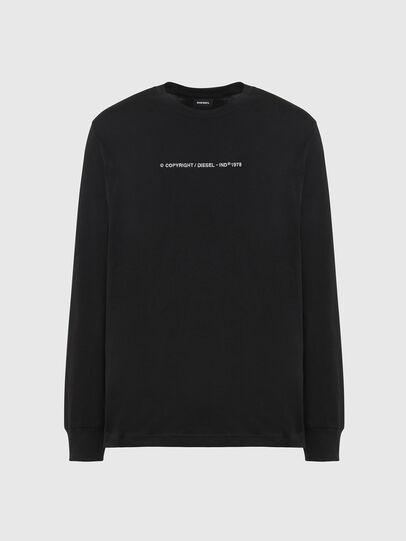 Diesel - T-JUST-LS-X93, Black - T-Shirts - Image 1
