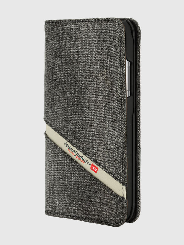 DIESEL 2-IN-1 FOLIO CASE FOR IPHONE XS & IPHONE X, Grey - Flip covers