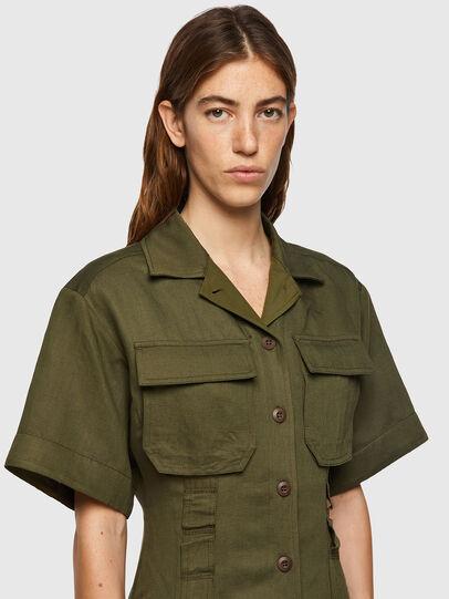 Diesel - D-AMABEL, Military Green - Dresses - Image 3