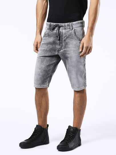 Diesel - KROSHORT JOGGJEANS, Light Grey - Shorts - Image 6