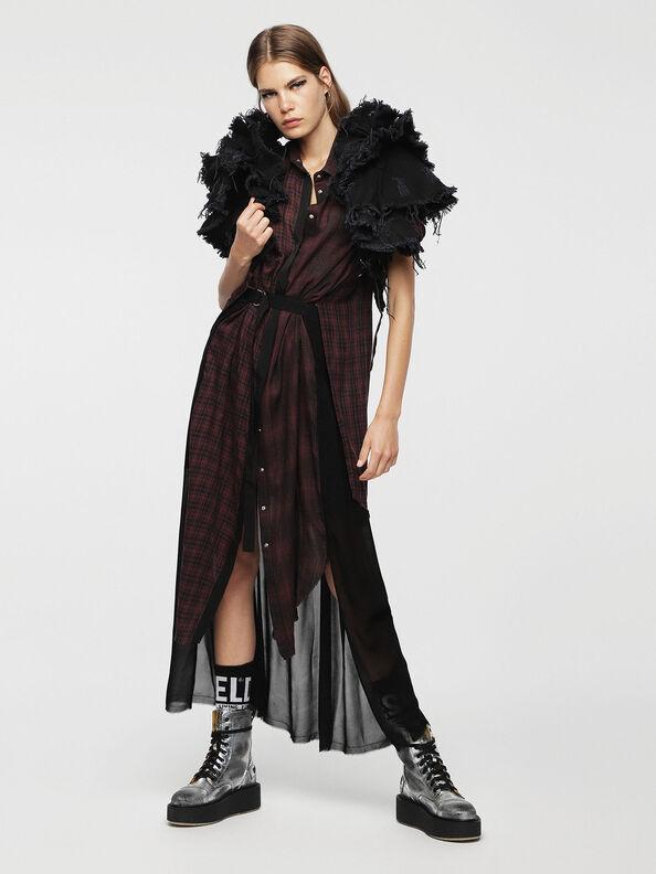 D-BAGGY, Red/Black - Dresses