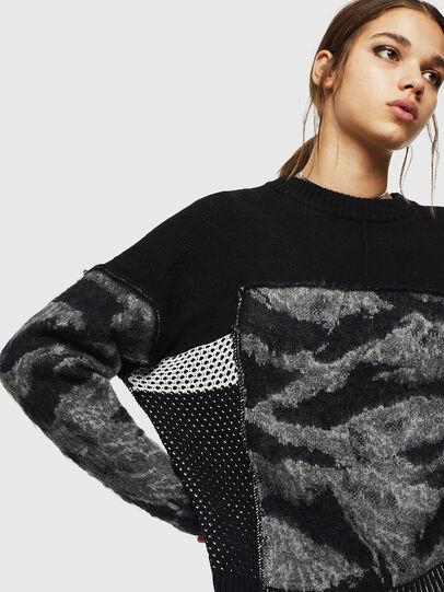 Diesel - M-POST, Black - Sweaters - Image 4