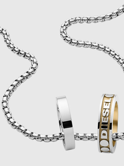Diesel - DX1233, Silver - Necklaces - Image 2