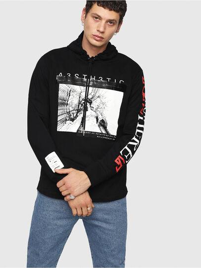 Diesel - T-FONTY-YB, Black - T-Shirts - Image 1