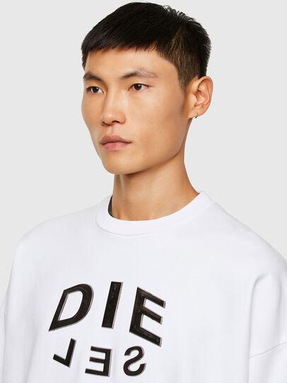 Diesel - S-MART-A90, White - Sweatshirts - Image 3