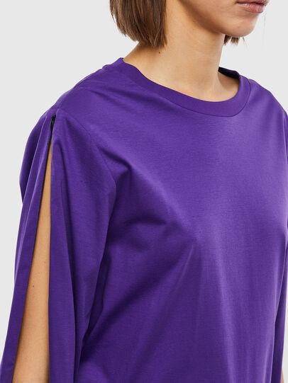 Diesel - T-ROSES, Violet - T-Shirts - Image 3