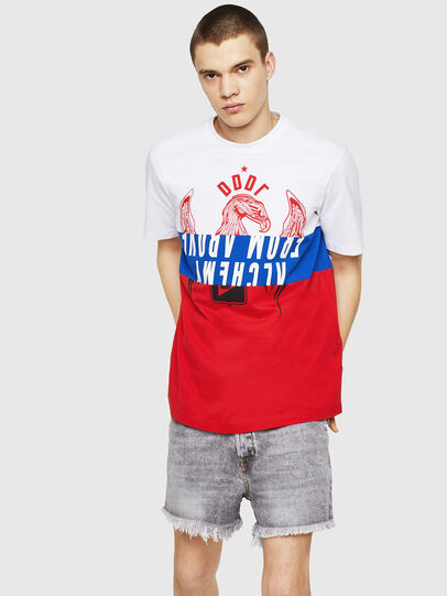 Diesel - T-JUST-A1, White/Red/Blue - T-Shirts - Image 4