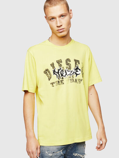 Diesel - T-JUST-B25, Yellow - T-Shirts - Image 1