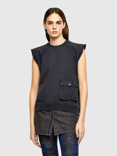 Diesel - F-ELPA, Black - Sweatshirts - Image 1
