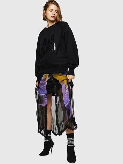 Diesel - F-HENNY-D, Black - Sweatshirts - Image 5