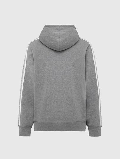 Diesel - UMLT-BRANDON-Z, Light Grey - Sweatshirts - Image 2