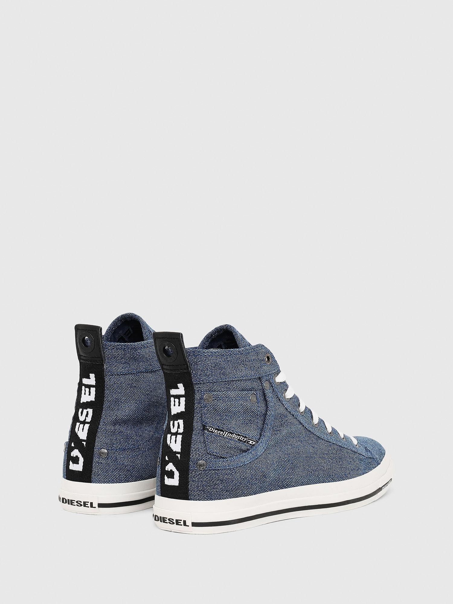 sneakers in treated denim | Diesel