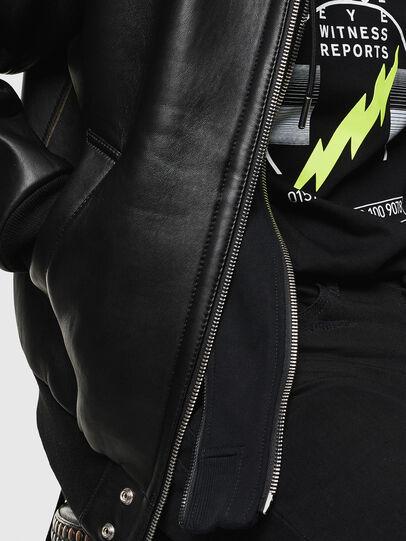 Diesel - L-BRANDO, Black - Leather jackets - Image 3